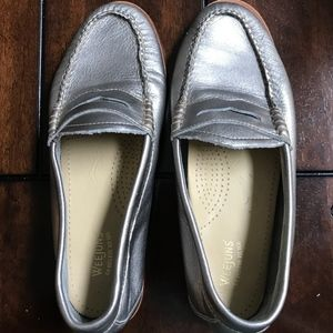 Bass Wejun loafers - metallic pewter color